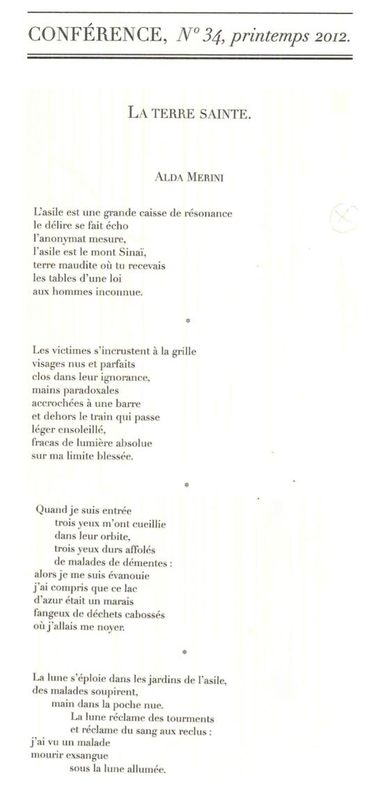 4 poèmes d'Alda Merini